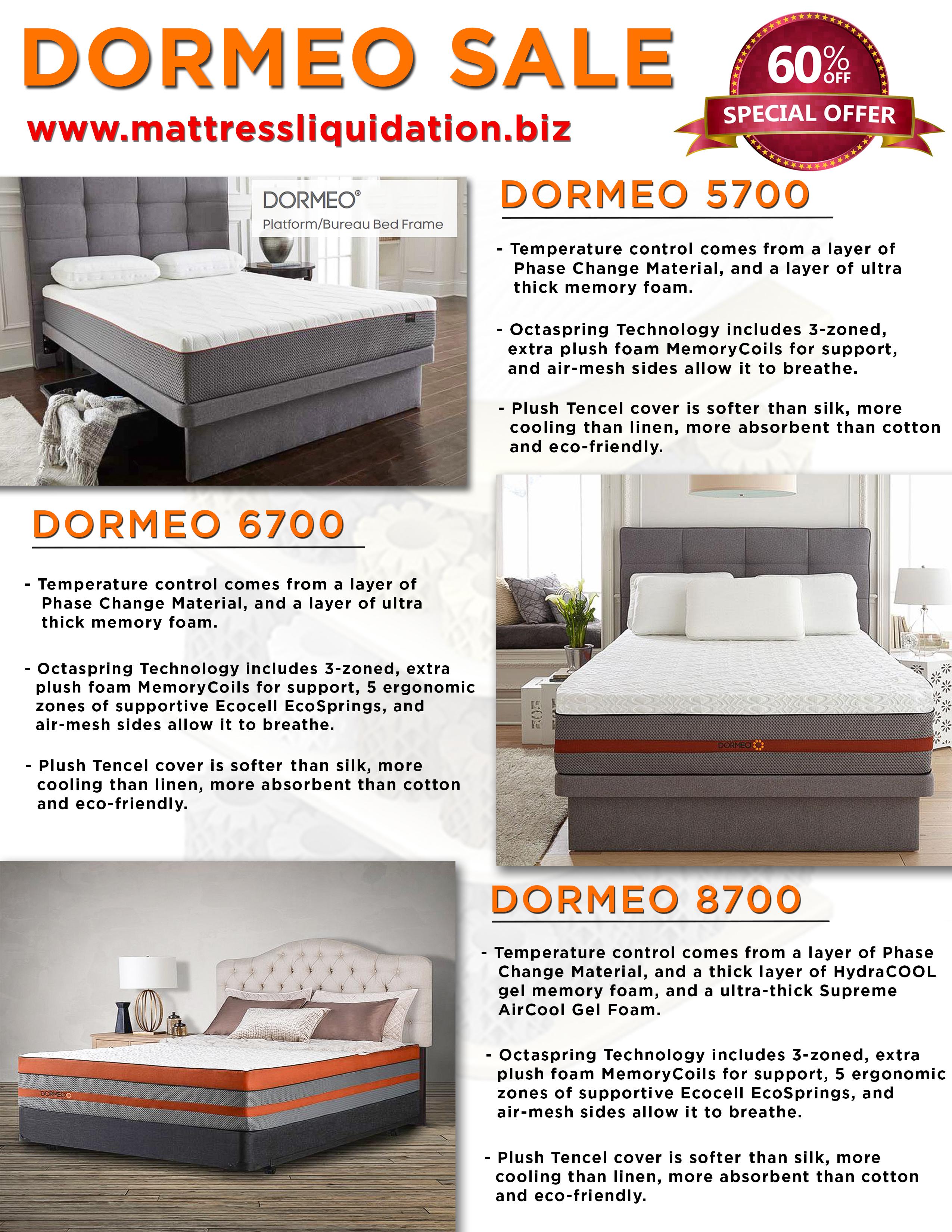 dormeo octaspring memory foam mattresses at mattress liquidation in
