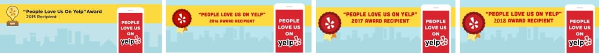 Yelp Award 2015 to 2019