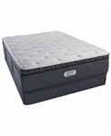 Simmons Beautyrest Platinum Preferred CH 15 inch Luxury Plush Pillow Top Mattress Set - Twin