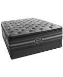 "Simmons Beautyrest Black 18"" Luxury Firm Pillow Top California King Mattress Set"