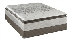 Full Sealy Posturepedic Firm Euro Pillowtop Mattress Set