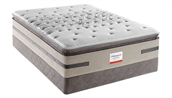 Full Sealy Posturepedic Plush Euro Pillowtop Hybrid Mattress Set