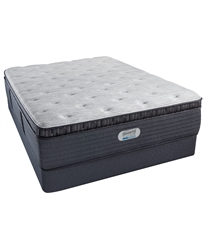 "Simmons Beautyrest Platinum Preferred Cedar Ridge 16"" Plush Pillow Top Full Mattress Set"