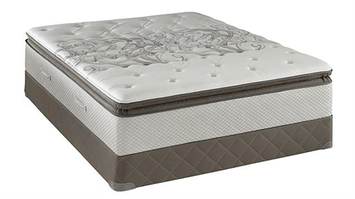 King Sealy Posturepedic Plush Euro Pillowtop Mattress Set