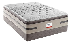 King Sealy Posturepedic Cushion Firm Euro Pillowtop Hybrid Mattress Set