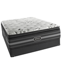 "Simmons Beautyrest Black 15"" Plush Pillow Top King Mattress Set"