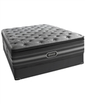 "Simmons Beautyrest Black 18.5"" Ultra Plush Pillow Top King Mattress Set"