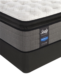 "Sealy Posturepedic Plus 14"" Cushion Firm Euro Pillowtop Mattress Queen Set"
