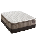 Stearns & Foster 15.5 inch Luxury Firm Euro Pillowtop Queen Mattress Set