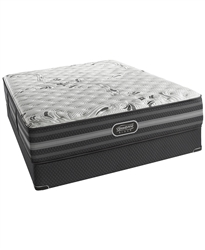 "Simmons Beautyrest Black 12.5"" Extra Firm Queen Split Mattress Set"
