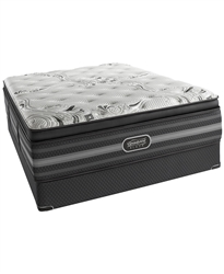 Simmons Beautyrest Black 15'' Luxury Firm Pillow Top Queen Split Mattress Set