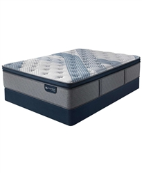 Serta iComfort by Blue Fusion 1000 14.5 inch Hybrid Plush Euro Pillow Top Mattress Set - California King