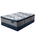 Serta iComfort by Blue Fusion 300 14 inch Hybrid Plush Euro Pillow Top Mattress Set - California King