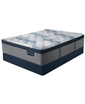 Serta iComfort by Blue Fusion 300 14 inch Hybrid Plush Euro Pillow Top Mattress Set - Queen
