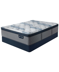 Serta iComfort by Blue Fusion 300 14 inch Hybrid Plush Euro Pillow Top Mattress Set - Twin
